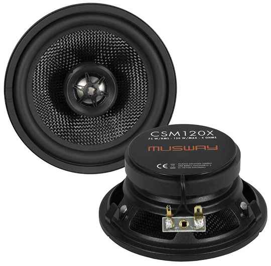 """Musway CSM120X 12 CM (4.7"""") 2-WAY COAXIAL-SPEAKERS FOR MERCEDES-BENZ W124"""