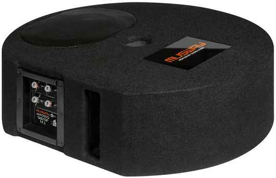 """Musway MW300Q  SINGLE-BASSREFLEX-SYSTEM FOR THE SPARE WHEEL RECESS  WITH 15 x 23 CM (6 x 9"""") SUBWOOFER"""