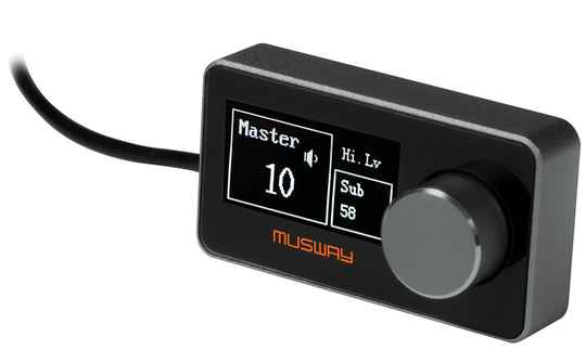 Musway DRC1 DIGITAL REMOTE CONTROL WITH OLED DISPLAY  FOR SEVERAL DSP FUNCTIONS