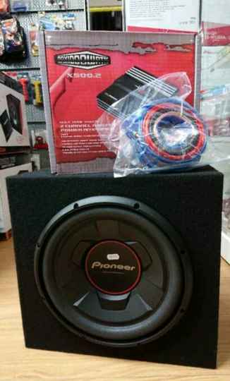 Pioneer Subwoofer set incl kabels