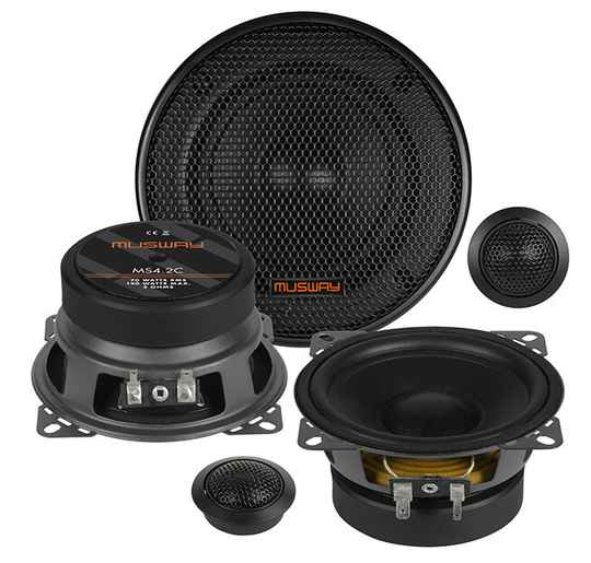"""Musway MS4.2C 10 CM (4"""") 2-WAY COMPONENT-SYSTEM"""