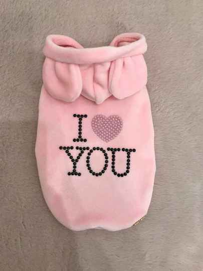 I Love You Sweater - Pink