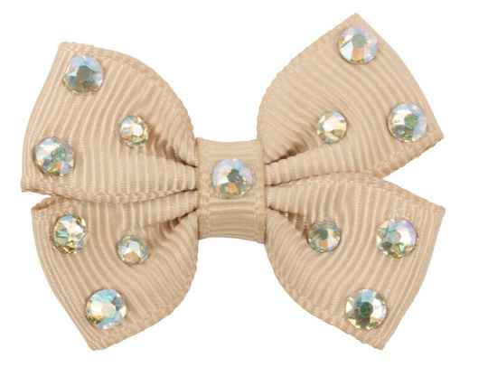 Hairclip Sparkling Bow - Beige