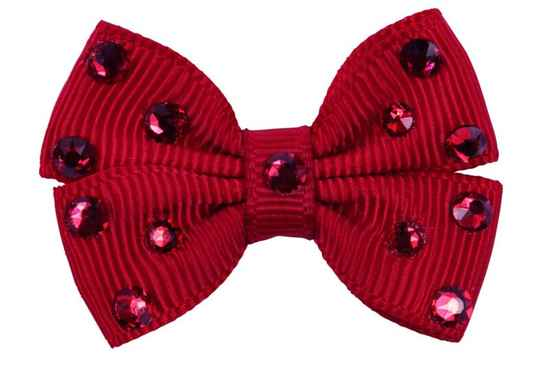Hairclip Sparkling Bow - Red