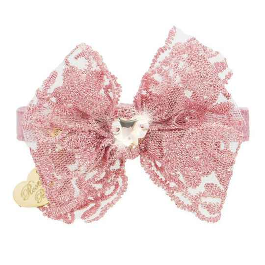 Double Bow Magic Pink Collar