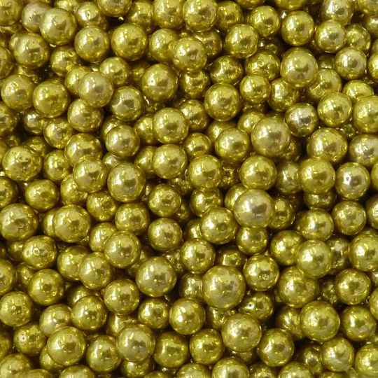 Metallic pearls gold