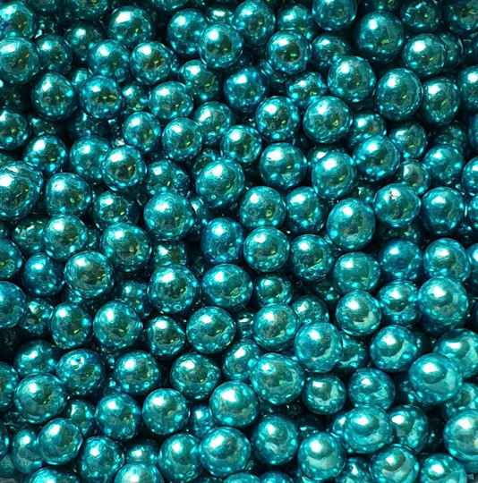 Metallic pearls blue