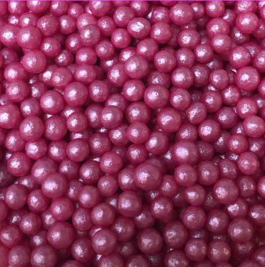 Pearls deep pink glimmer