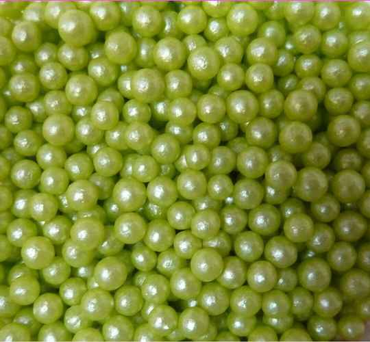 Pearls lime glimmer