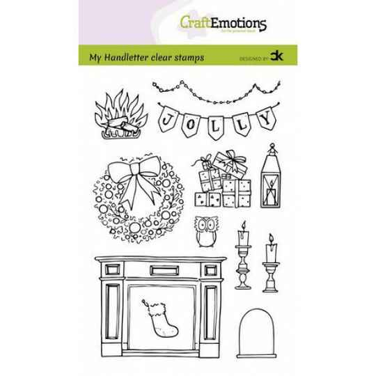 Craftemotions clear stamps A6 - Xmas set 2 (Eng) - Carla Kamphuis