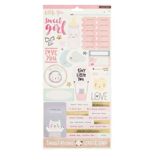 Crate paper Little You Baby Girl 2 stickervellen