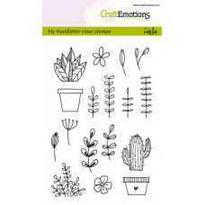 Craftemotions clear stamps A6 - handmade floral (Eng) - Carla Kamphuis