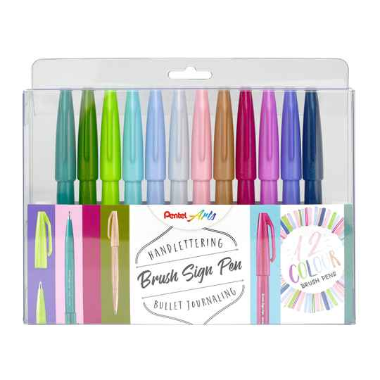 Pentel Brush Sign Pen - Set pastel