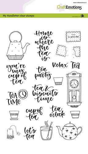 Craftemotions clear stamps A5 - Tea Time (Eng) - Carla Kamphuis