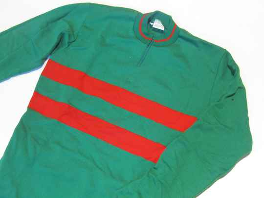 RAXAR LONG SLEEVE GREEN/RED Cycling jersey acrylic size 2 / 45 NOS! TUB002 03 - 12/08/20