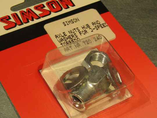 SIMSON TORPEDO 3sp hub axle nuts and washers NOS! BX18 507 - 6/2/20 RK12