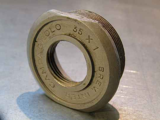CAMPAGNOLO NUOVO RECORD French Thread 35X1 Thick FIXED Bottom bracket cup NOS! BOR03 004-06 5/29/21