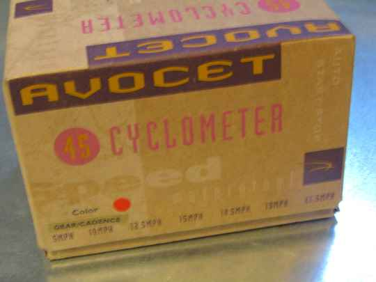 AVOCET 45 CYCLOMETER RED ( MARBLE ) with CADENCE NOS! SC001 56 12/06/19