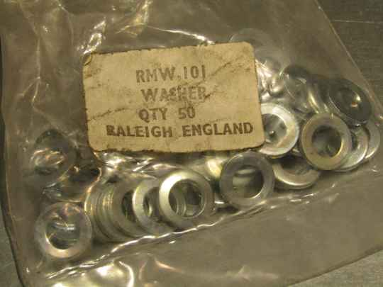 RALEIGH RMW. #101 WASHERS 4X NOS! TL08 02-B01-001-02 5/3/21