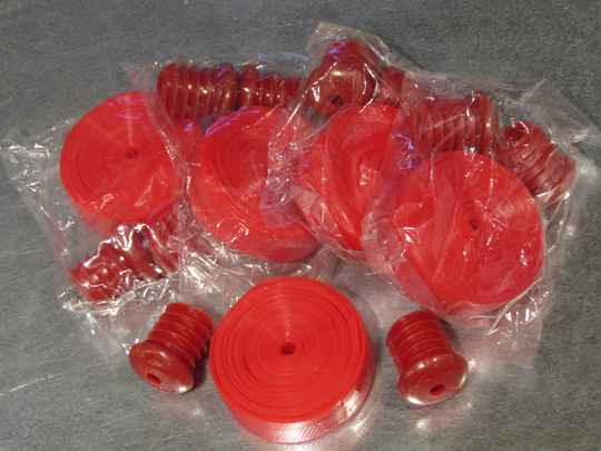 GENERIC ( RED ) Plastic handle bar tape with plugs 5X NOS! BC37A 61 - 1/18/20 RK01