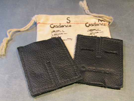 Cadence leather dual toe-strap buckle pads NOS! BXC00F32 603 - 9/13/20 RK09