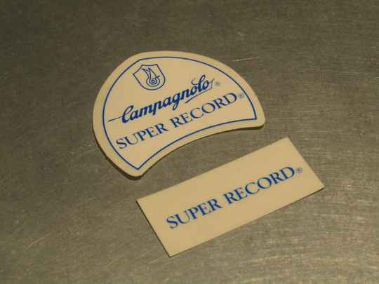CAMPAGNOLO SUPER RECORD Stickers 2X NOS! BX100A 0006 - 15/2/21 RK01