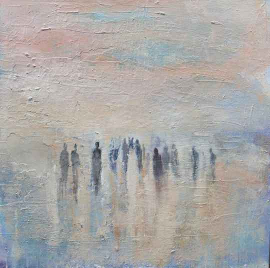 Abstract  figurative painting 100 x 100 cm (SOLD)