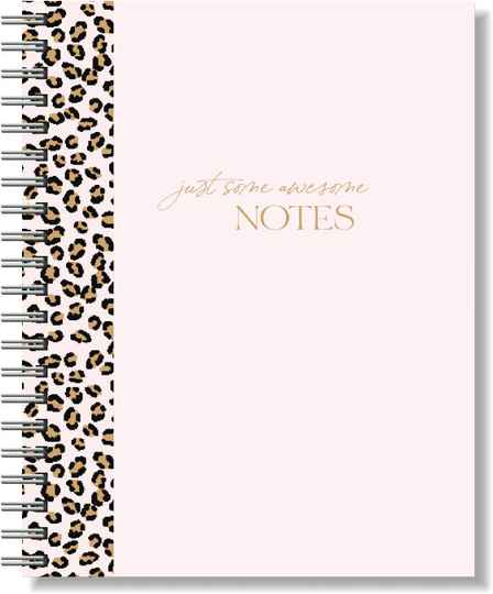 Notebook A5 Softcover | Pink Leopard