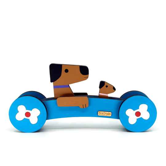 XL Dogs First-Car Gepersonaliseerd Helder Blauw