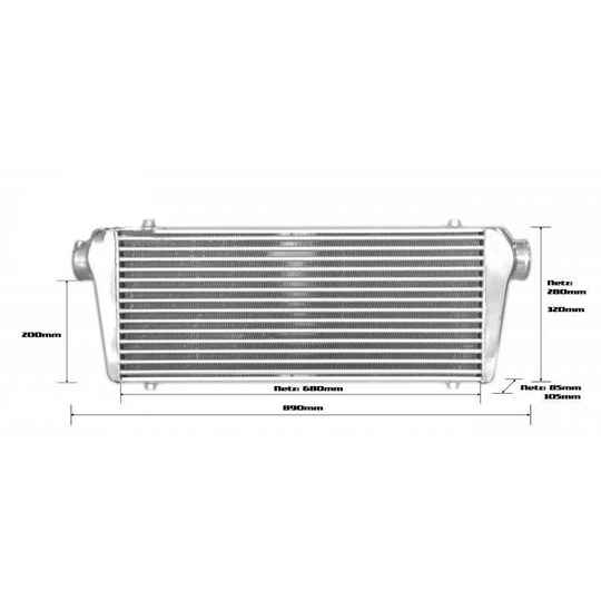 BOOST products Intercooler 700x300x100mm - 76mm - Competition 2015