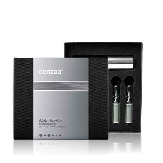 CENZAA - SKIN BOOST AMPOULE THERAPY - TIMELESS CAVIAR