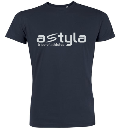 Astyla Logo Bio-cotton T-shirt Navy