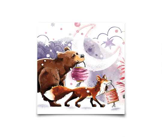 Card - Festive Fox & Bear