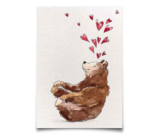 Card A6 - Love Bear