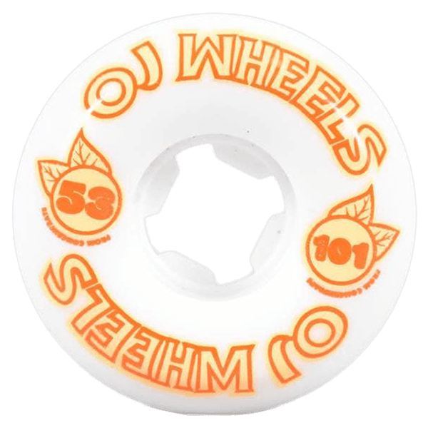 OJ Wheels From Concentrate 2 Hardline 101A White Orange 53mm
