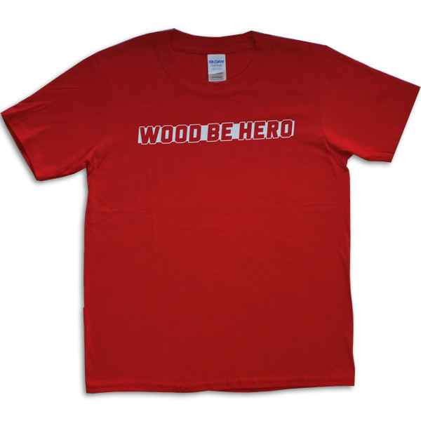 Wood be Hero Skateshop Kids T-Shirt Big Logo - Red
