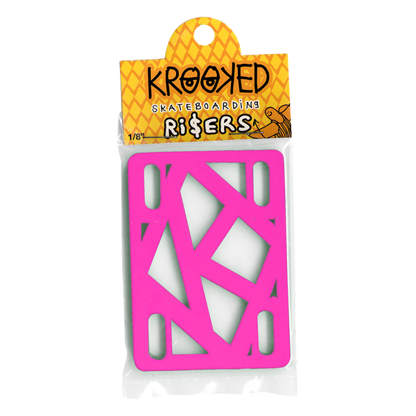 Krooked Riser Pads - Hot Pink 1/8 Inch