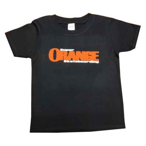 Super Orange Skateboarding KIDS T-Shirt - Black