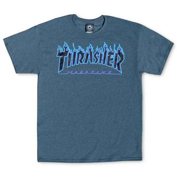 Thrasher T-Shirt Flame - Heather