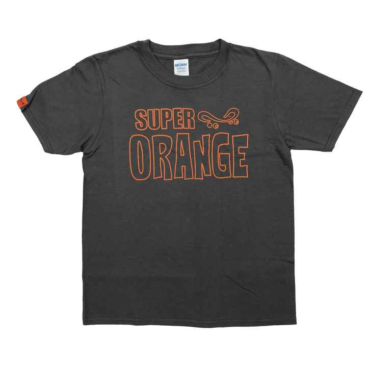 Super Orange Skateboarding KIDS T-Shirt - Grey