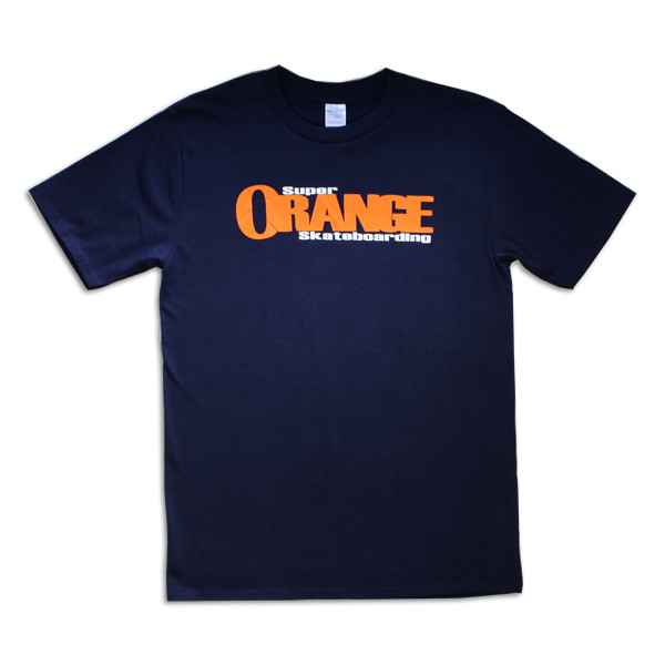 Super Orange Skateboarding T-Shirt - Navy
