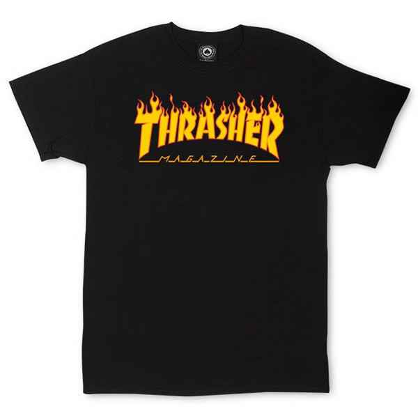 Thrasher T-Shirt Flame - Black