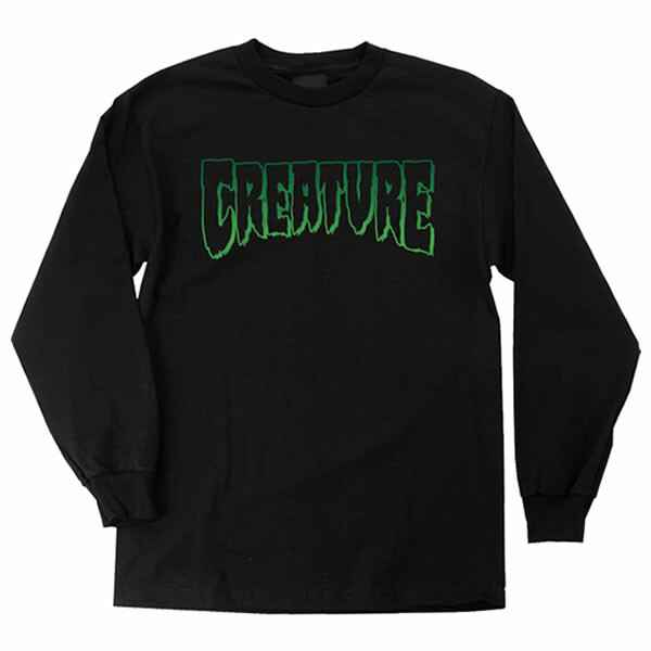 Creature Longsleeve Logo Outline - Black