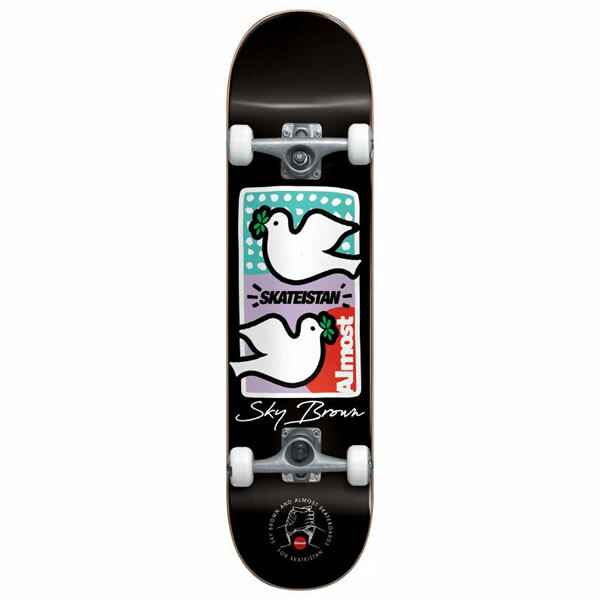 """Almost Complete Skateboard - Sky Brown Double Doves Skateistan First Push 7.875"""""""