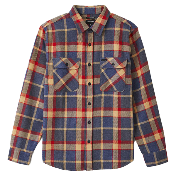 Brixton vest - Bowery Flannel Blue Red