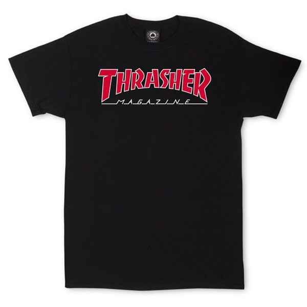 Thrasher T-Shirt Outlined - Black