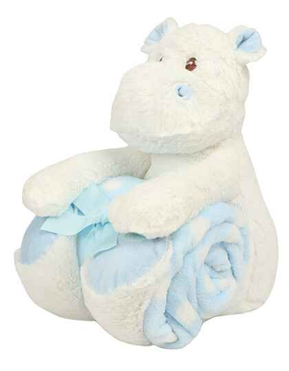 Hippo with Blanket Blauw