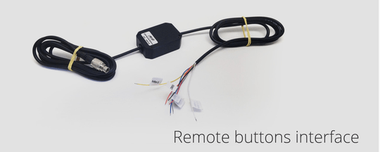 AIM remote buttons interface
