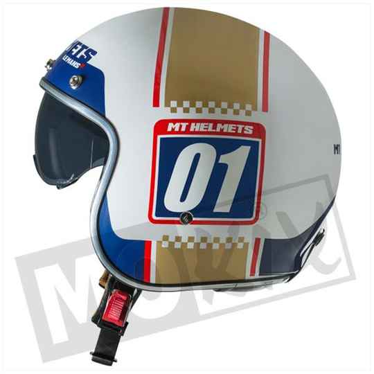 HELM LE MANS II SV NUMBERPLATE WIT