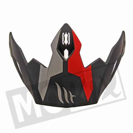 HELM KLEP STREETFIGHTER TWIN MAT ROOD